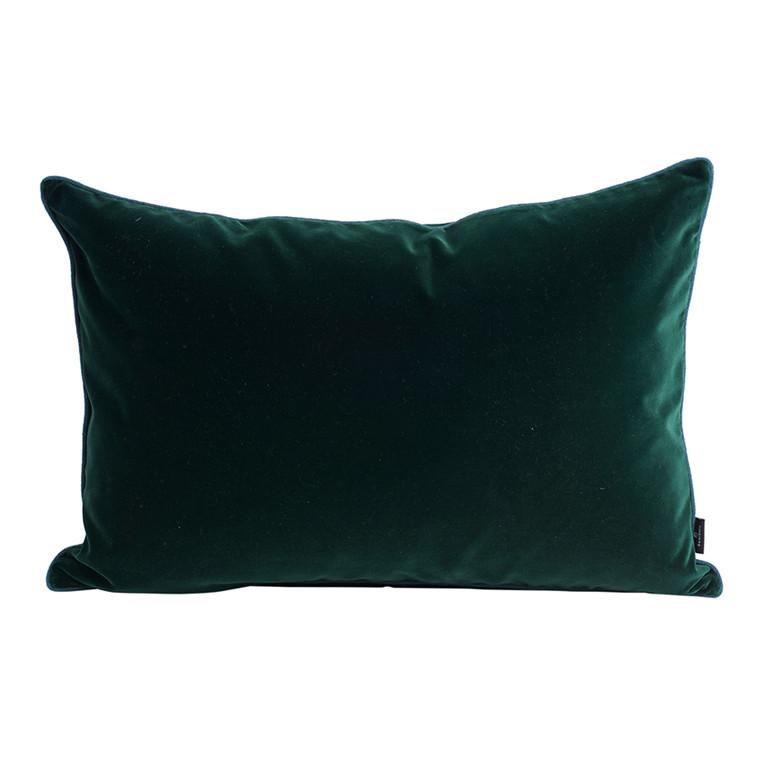 SemiBasic Velour Pude Mørkegrøn 40x60cm