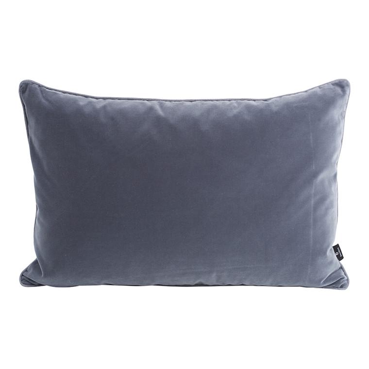 SemiBasic Velour Pude Mørkegrå 40x60cm