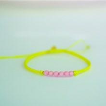 Stine A Candy Bracelet Rosa Coral Og Gul Bånd