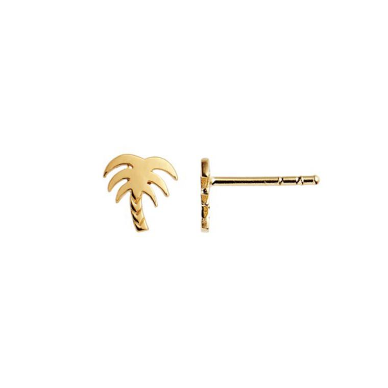 Stine A Petit Palm Ørestik Guld
