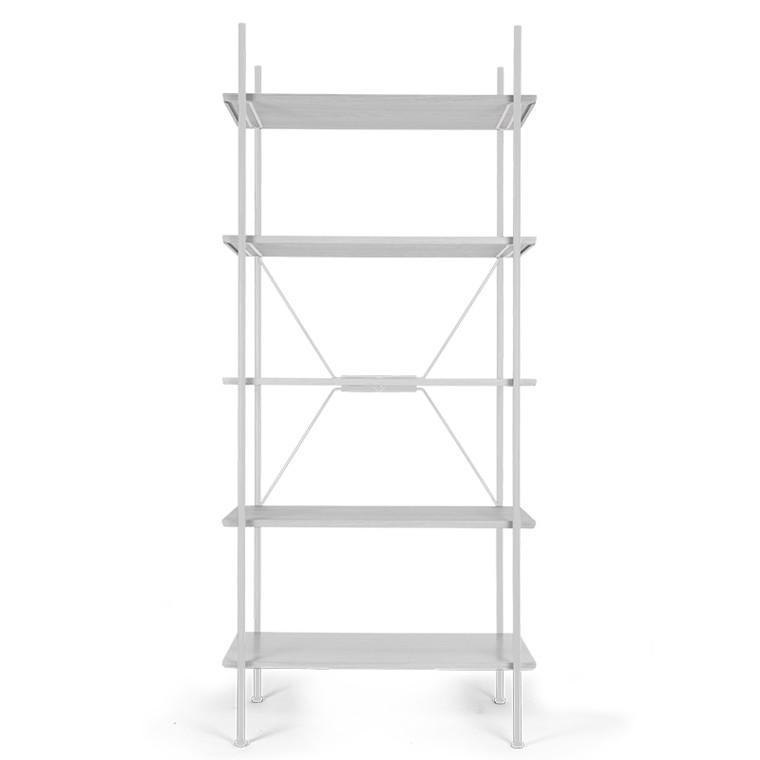 Novel Cabinet Makers Høj Stock Reol Hvid