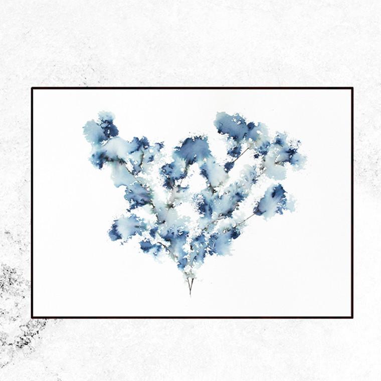 Trine Holbæk Print Field Flower Blue