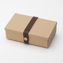 Uhmm box No. 01 Mocca med brun båndfarve