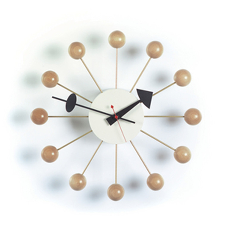 Vita Ball Clock i natur
