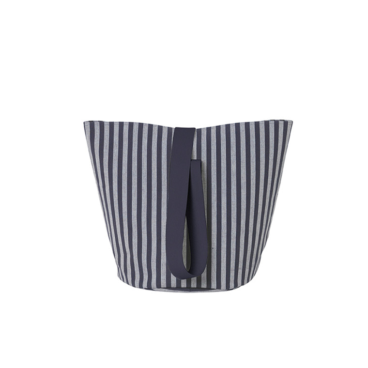 Ferm Living Chambray Basket Striped, Medium