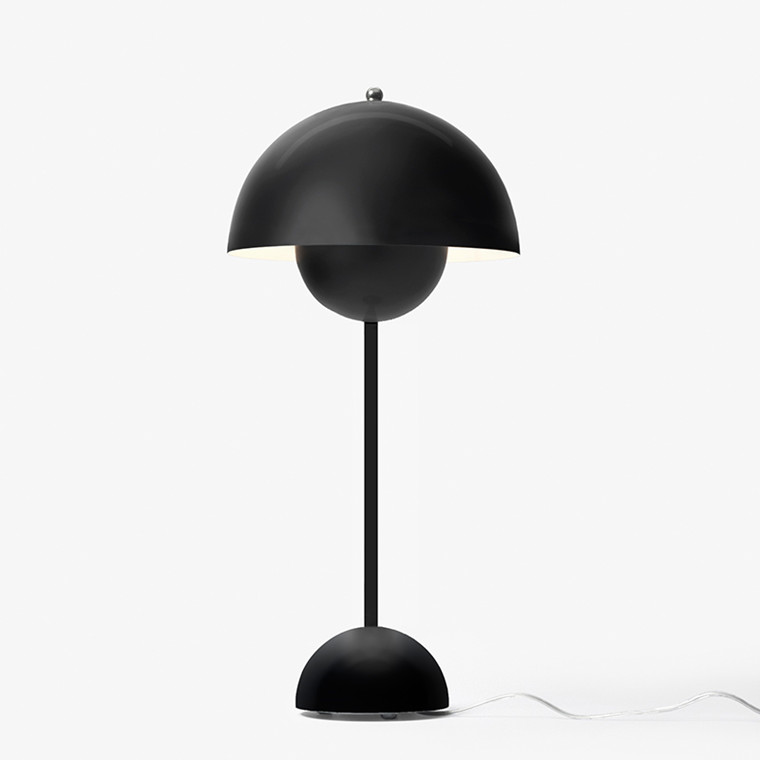 Flowerpot Bordlampe Mat Black