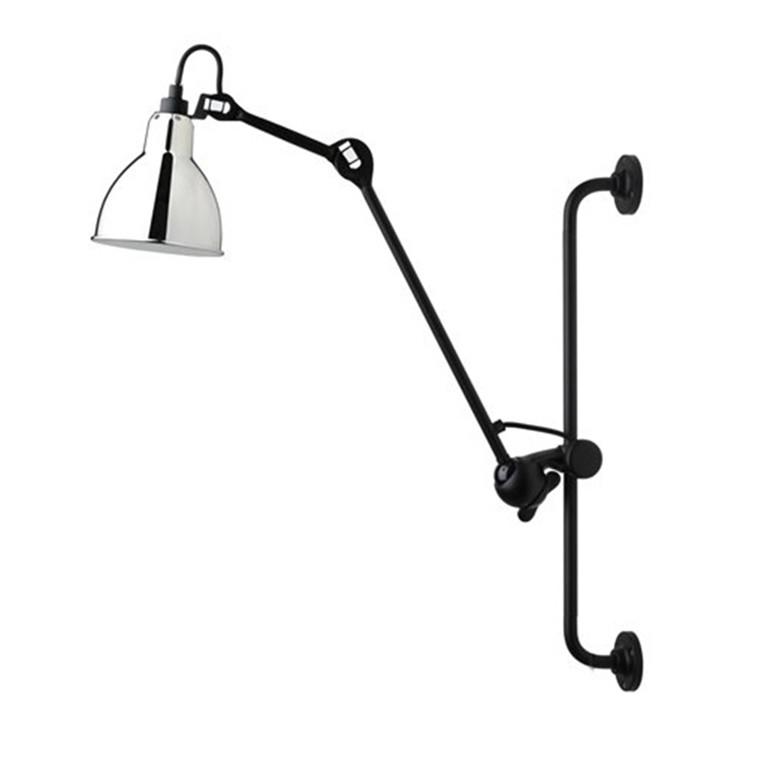 Lampe Gras Væglampe Sort-Krom No 210
