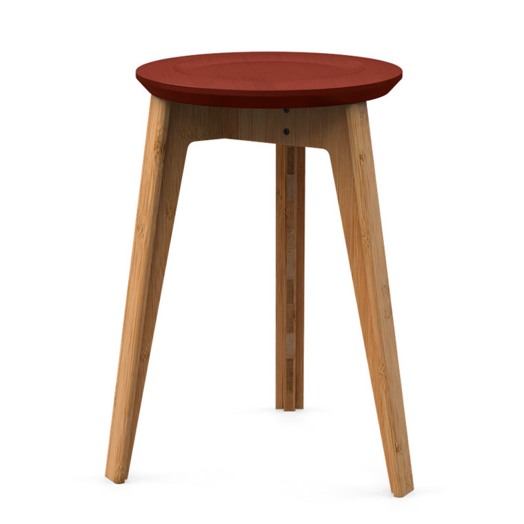 We Do Wood Button Stool Rustrød