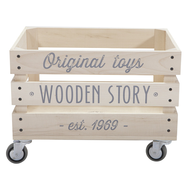 Wooden Story Opbevaringskasse på hjul