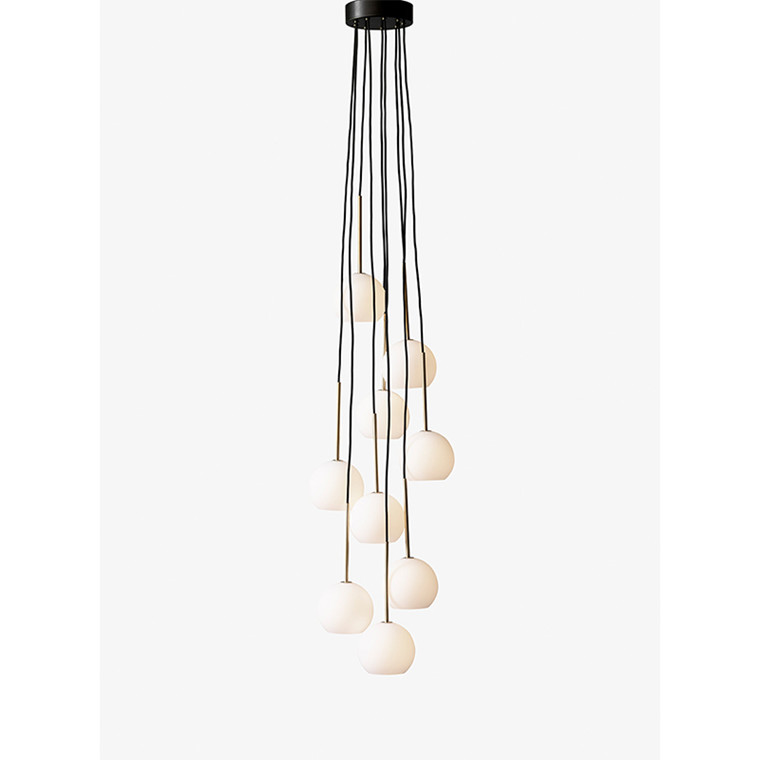 &Tradition Ice Chandelier SR4 Messing og opal