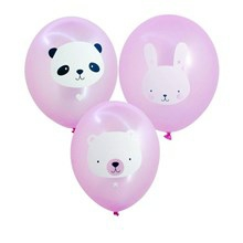 A Little Lovely Company Ballon Baby Animals Pink