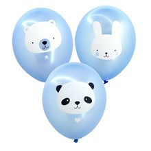 A Little Lovely Company Ballon Baby Animals Blue