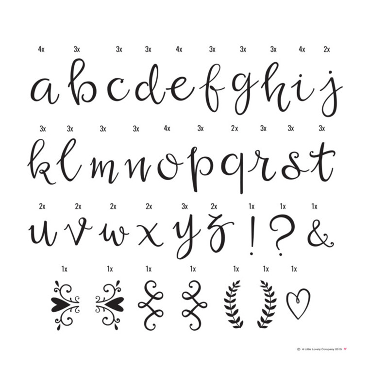 A Little Lovely Company Bogstaver Script