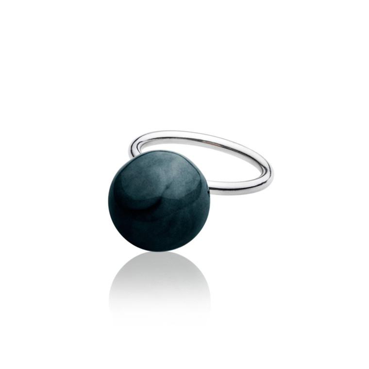 Anne Black Elements Ring m. stor kugle