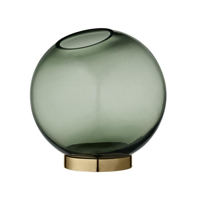 AYTM Globe Rund Glas Vase Grøn Mellem
