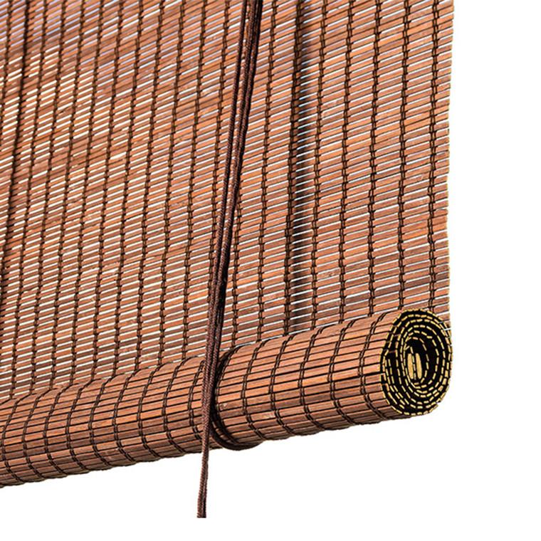 Color & Co Mørk brun bambus rullegardin