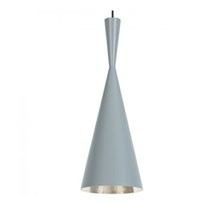 Tom Dixon Lampe Beat Light Tall Grå