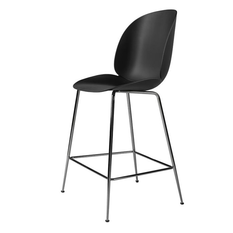 Gubi Barstol Beetle Counter Chair H65 Sort, Uden Polstring