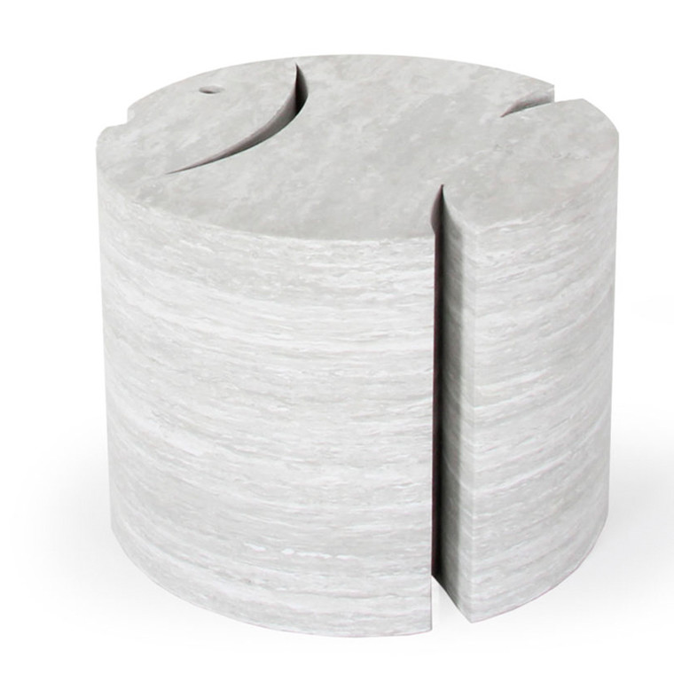 Bobles Fisk, lys grå marmor