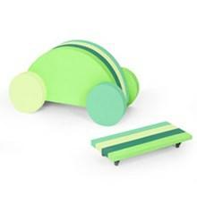 Bobles Bil Multi grøn