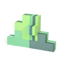 Bobles Byggeblokke Multi Grøn Lille