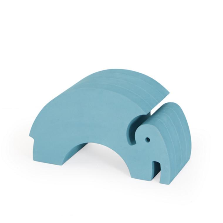 Bobles Elefant Mellem Blå Marmor