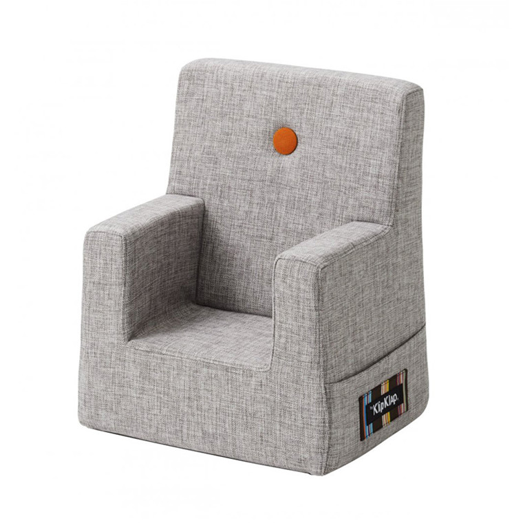By KlipKlap Kids Chair Multi Grå m. orange knap