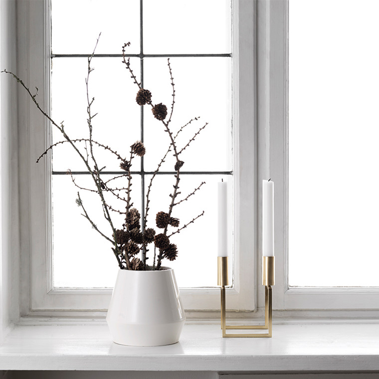 By Lassen Rimm vase lav Hvid