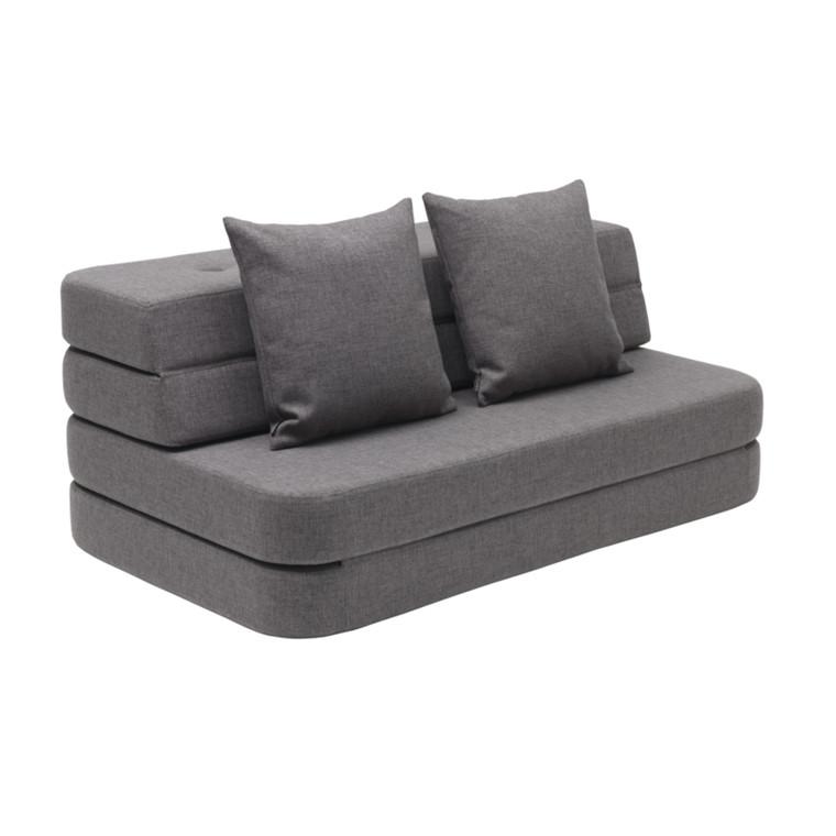 By KlipKlap KK 3 Fold Sofa Blå Grå