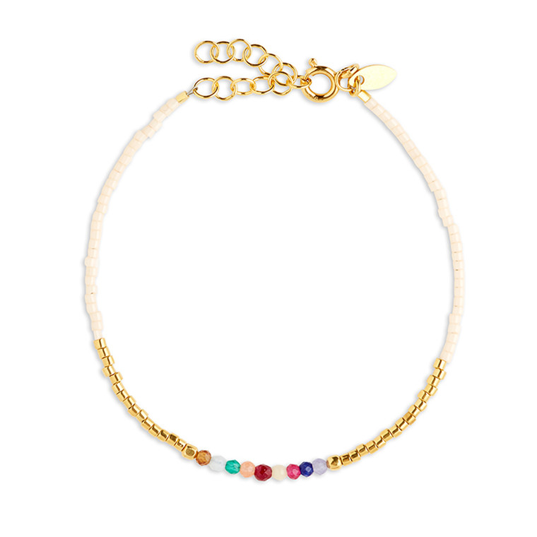By Thiim Armbånd Simplicity Deluxe Rainbow Gold