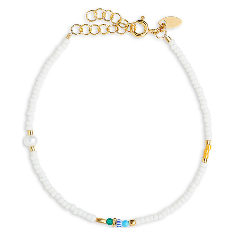 By Thiim Simplicity Deluxe White Pearl Armbånd