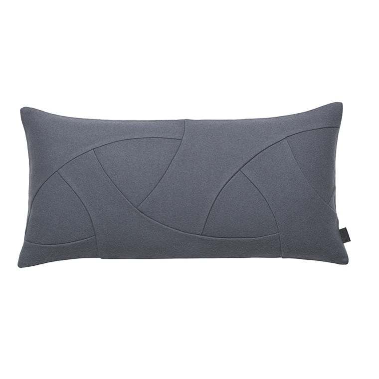 By Lassen Flow Cushion, Hero, 35x70 grey
