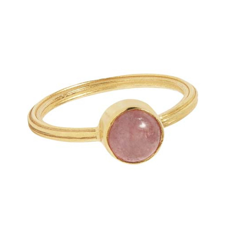 Carré Ring Archive Guld Rhodochrosite