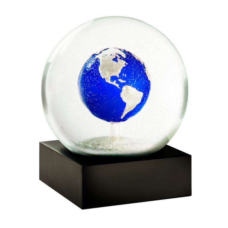 Coolsnowglobes Snow Globe Earth Blue