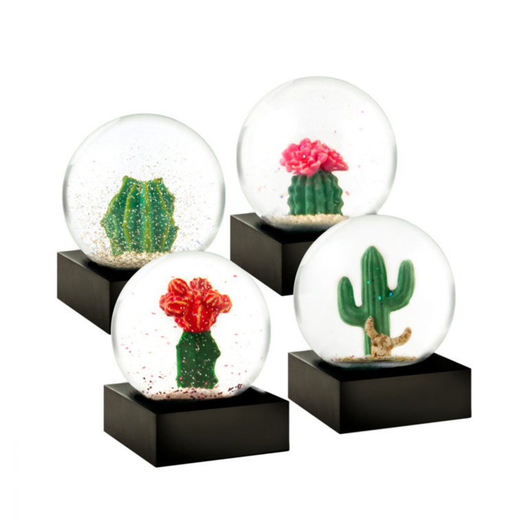 Coolsnowglobes Snow Globes Mini Cactus Set