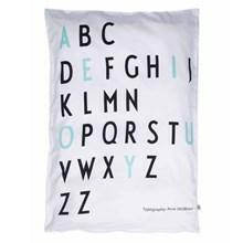 Design Letters Sengetøj Baby Sort/Turkis