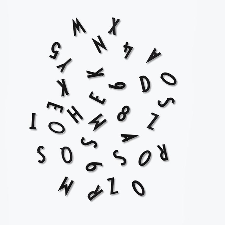 Design Letters Bogstav Boks Sort