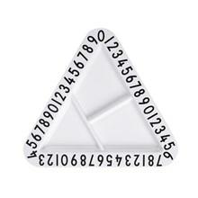 Design Letters snack tallerken Trekantet