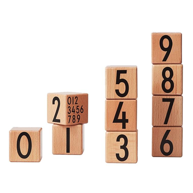 Design Letters Træklodser med tal i træ