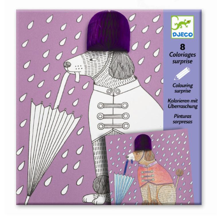 Djeco Farvelægningsoverraskelser med foldet papir - Very chic