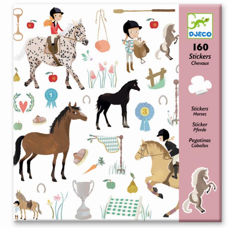 Djeco Klistermærker med Heste