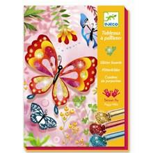 Djeco Kreativæske - Glitterkort med Sommerfugle
