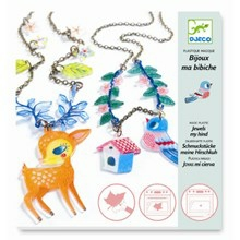 Djeco Krympe plast smykker - Hjort og fugle