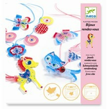 Djeco Krympe plast smykker - Kat og pony