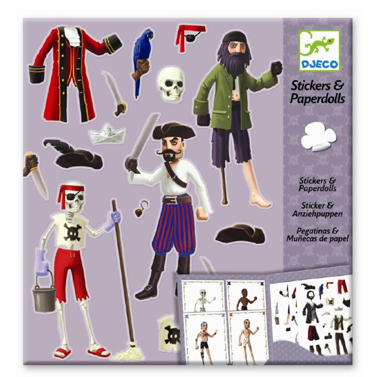 Djeco Påklædningsdukkekort Pirater