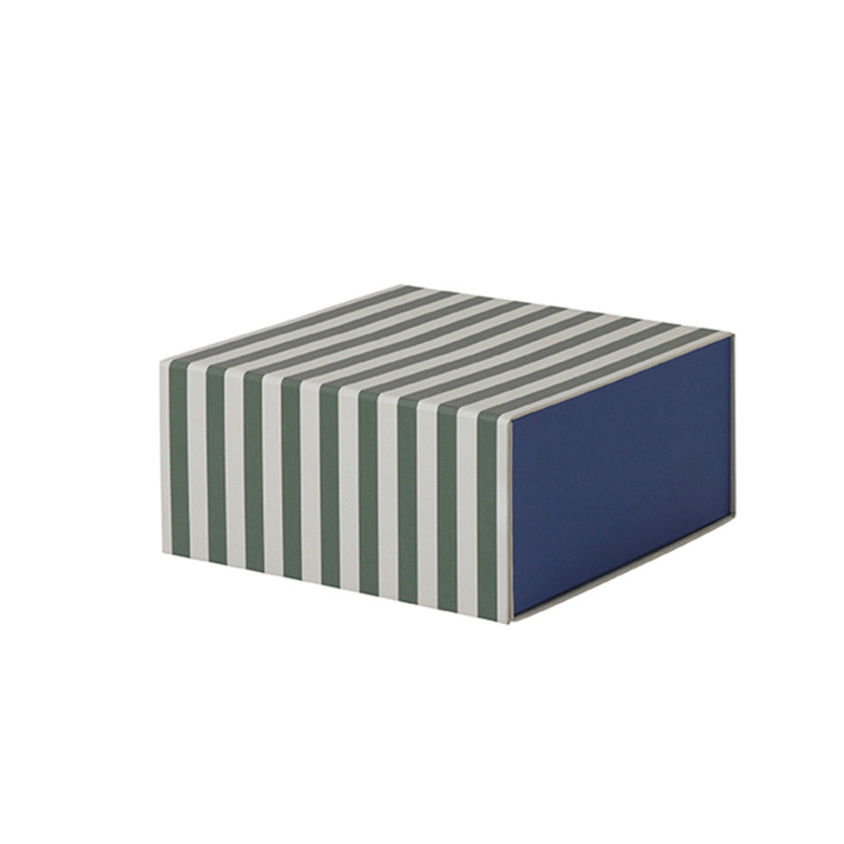 Ferm Living Striped Box - Square Green