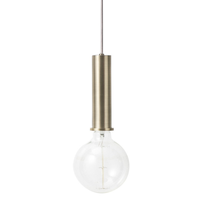Ferm Living Collect Lightning Fatning Messing Høj