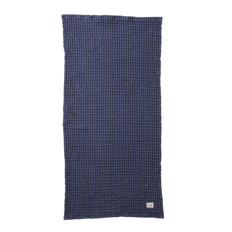 Ferm Living Håndklæde Blå
