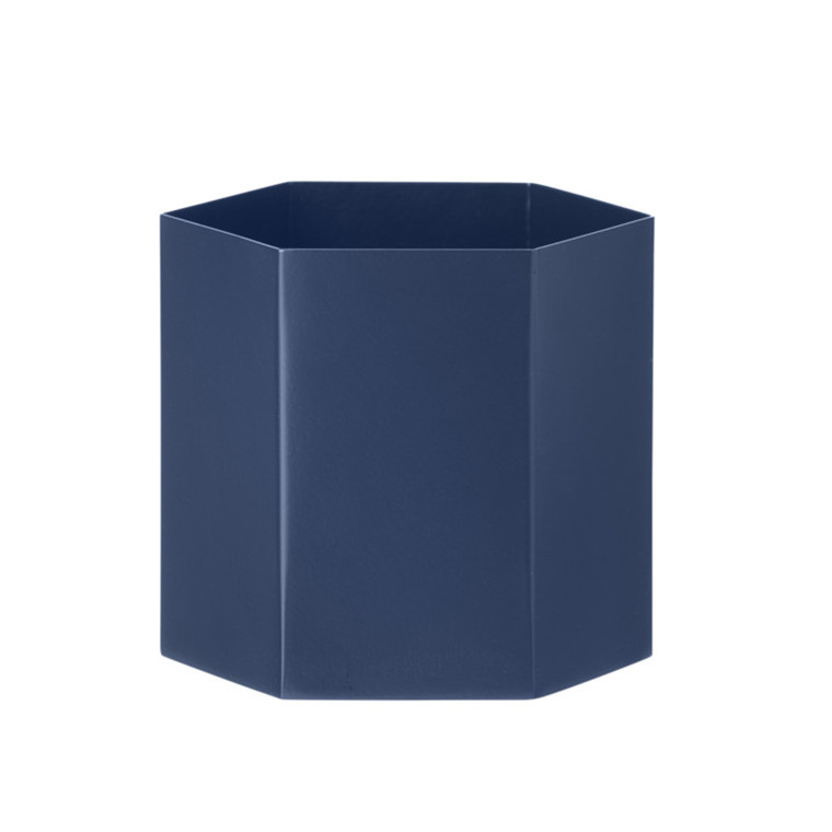 Ferm Living Hexagon Pot Blue