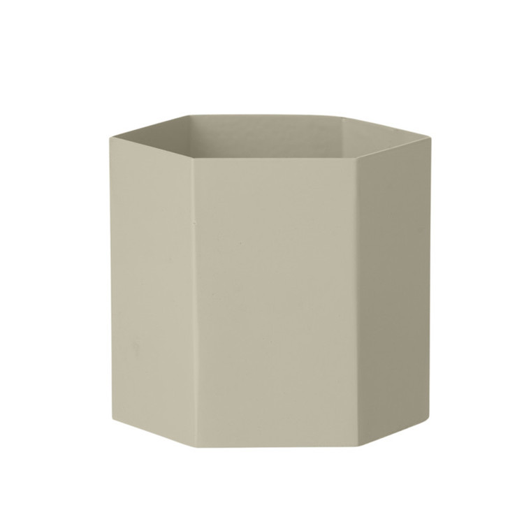 Ferm Living Hexagon Pot Grey